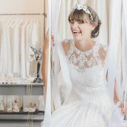 Happy Braut bei lacely in Lörrach